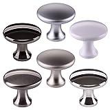 10 x SO-TECH® Pomello per Mobile DENISE Finitura Acciaio Inox Opaco Ø 29 mm - il Design incontra la Funzionalità - Pomello Maniglia per Cucina Pomello per Cucina Maniglia per Mobile