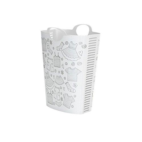 Life Story Canasta de lavandería | 58 L | Agujeros de ventilación | Ropa fresca | Sin mal olor | Gran canasta de lavandería | 53 × 40 × 65 cm