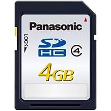Panasonic RP-SDLB04GAK - Tarjeta de memoria SDHC de 4 GB, clase 4, color azul