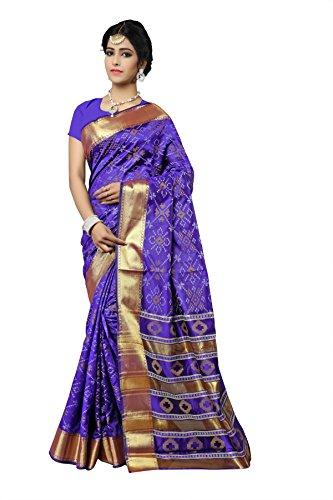 Urban India Purple Patola Silk Saree