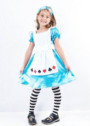 Child Sweetie Kinder Kostüm Alice im Wunderland Prinzessin Buchwoche Märchen (Alice Und Wunderland Cheshire Cat Kostüme)