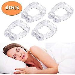 Fanuk Dispositifs Anti-Ronflement Snore Stopper Silicone Magnétique Naturel Solution de Ronflement Aide à Lutter Contre Le ronflement, apnée du Sommeil, Dilatateur Nasal en matériau médical