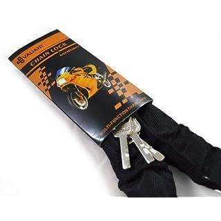 VALIANT Motorbike Chain Lock with Closed Shackle Padlock Heavy Duty Strong