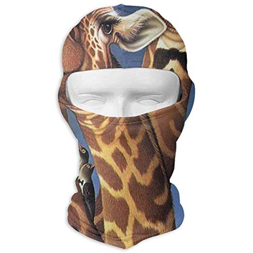 Jxrodekz Cartoon Giraffe Balaclava Motorcycle Full Face Mask UV Protection Multicolor Multicolor (High Vis Beanie)