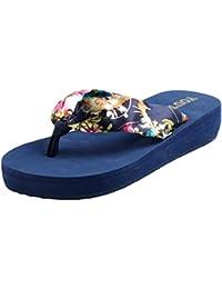 Yiiquan Mujer Chanclas Plataforma Sandalias de verano Zapatos de playa Flip Flop