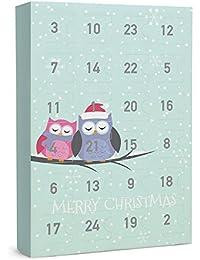 """SIX """"Weihnachten"""" Schmuck Adventskalender Eulen Tiermotiv 24-teilig Geschenke Überraschung XMAS Adventszeit Ohrringe Ketten Ringe Armbänder"""