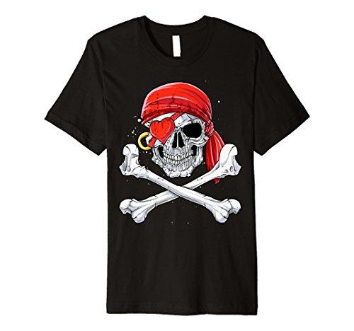Valentinstag Pirat T Shirt für Ihn Kids Jungen Totenkopf Geschenke