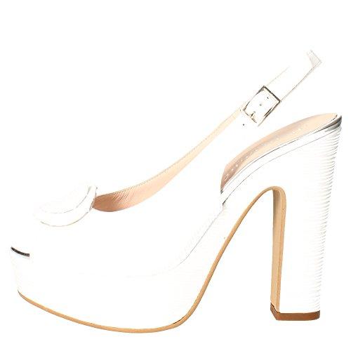 Micheggio 0482 Sandalo Donna Pelle Bianco Bianco 39