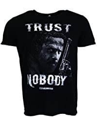 The Walking Dead Trust Nobody Camiseta negro Oficial Con licencia TV
