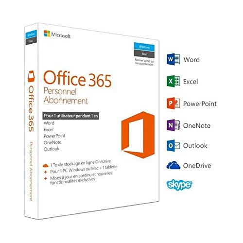 photo Office 365 personnel - inclus les nouveaux logiciels office 2016 pour 1 pc/mac + 1 tablette + 1 smartphone pendant 1 an