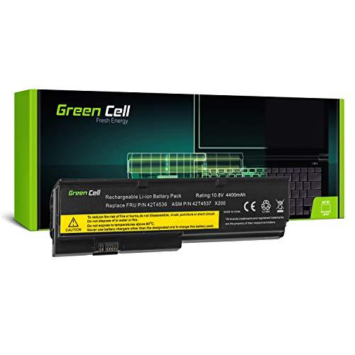 Green Cell Standard Serie 42T4650 Laptop Akku für Lenovo ThinkPad X200 X200s X201 X201i X201s (6 Zellen 4400mAh 10.8V Schwarz)