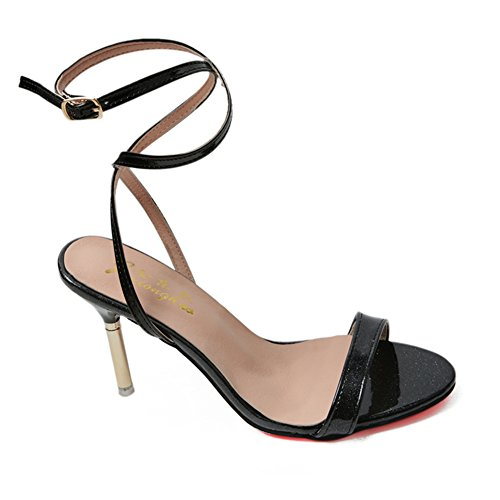 Lady Joker bout ouvert sandales en été en Europe et en Amérique/bouton pointu de simple shoes stiletto B