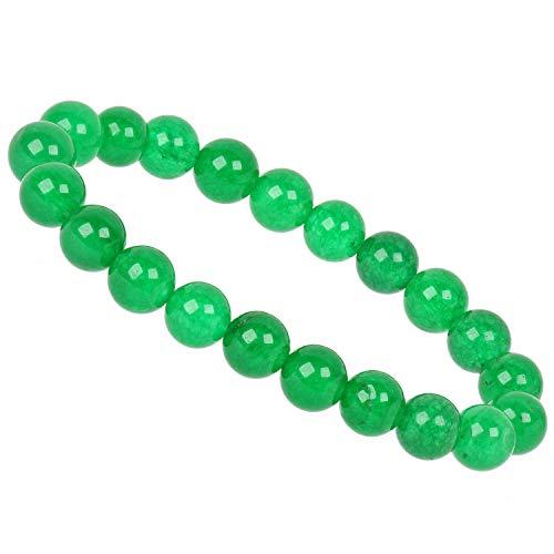 PowerBead - Pulsera de Piedras Preciosas, 10 mm, ágata Verde, para Hombre y Mujer