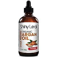 Shiny Leaf aceite de argán orgánico marroquí para el pelo con vitamina E ácidos grasos,