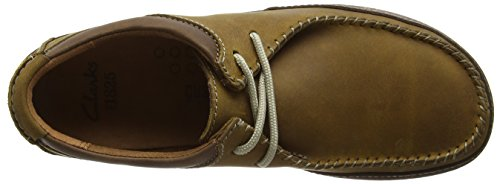 Clarks Trapell Pace, Derby homme Marron (Tan Leather)