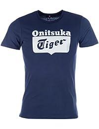 T-shirt Onitsuka�Tiger avec logo au centre pour homme en bleu marine