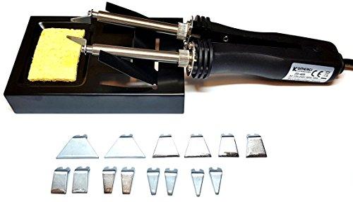 Komerci Lötzange ZD-409-24 schwarz 24V 25/48W für Lötstation ZD-931 937 916 917 SMD Lötkolben mit 8 Paar Lötspitzen Lötkolbenhalter