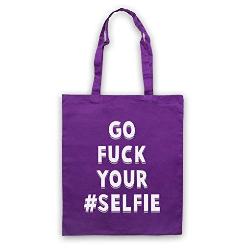 Vai A Fanculo Il Tuo Selfie Divertente Slogan Umhangetaschen Violett