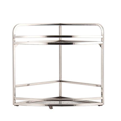 Étagère de cuisine cadre suspendu de mur cadre incorporé cadre d'angle fournitures de cuisine assaisonnement double étagère 37,5 * 29cm (taille : 37.5 * 29CM)
