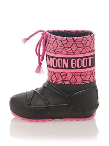 Moon Boot Pod Rave Jr Après-ski Neuf Chaussures. Noir / Fuchsia