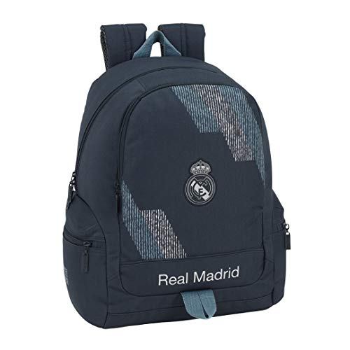 Safta- Mochila Adaptable Carro Real Madrid, Color Azul, 43 cm (611834662)