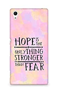 AMEZ hope is the only thing stronger than fear Back Cover For Sony Xperia Z4