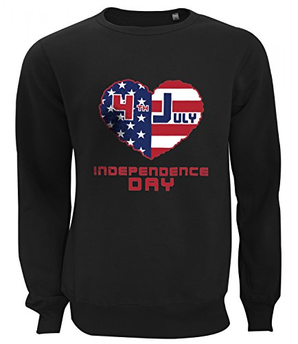 Catch T-Shirts - American Independence Day Flags Collection Women's Unisex Sweatshirt Nero Small