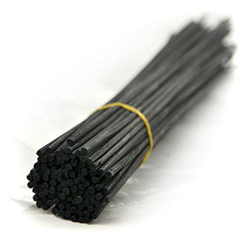 Rotin Roseau Diffuseur de remplacement bâton (30cm*3mm, Noir)