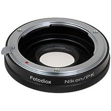 Fotodiox 10PKNKG - Anillo adaptador de montura de objetivo Nikon para Pentax K (PK)