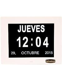 Reloj calendario con fecha, día y hora | Reloj Alzheimer | Reloj Tercera Edad