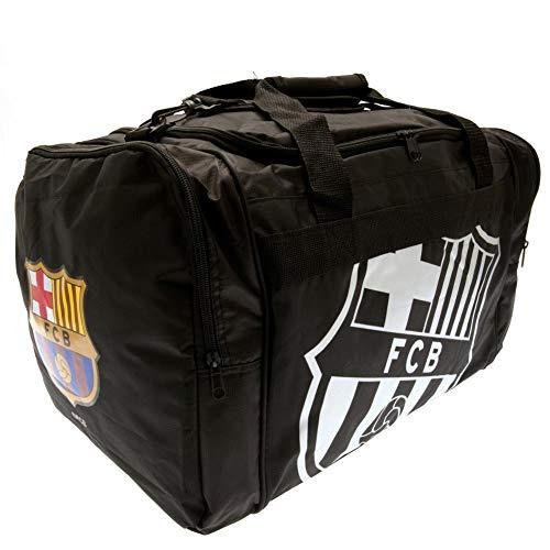 FCB FC Barcelona - Bolsa de deporte (45 x 30 x 28cm/Blanco/Negro)