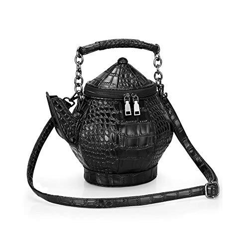 ekanne geformt Crossbody Handtasche Top-Griff Tote Damen Umhängetaschen Stilvolle lustige Gothic Geldbörse Persönlichkeit ()