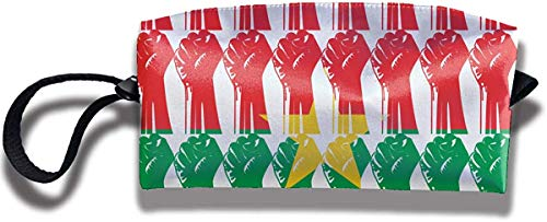 NA Burkina Faso drapeau poing levé voyage sac de maquillage sacs cosmétiques trousse de toilette pochette pochette multi-usages organisateur sac