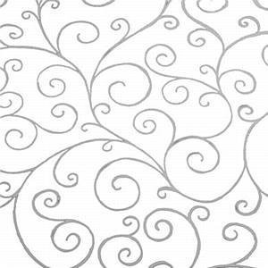 100m x 80cm Scroll Swirl Design Print - Silver on Clear Cellophane Film Wrap Roll - 100 Metres - BUMPER WHOLESALE ROLL