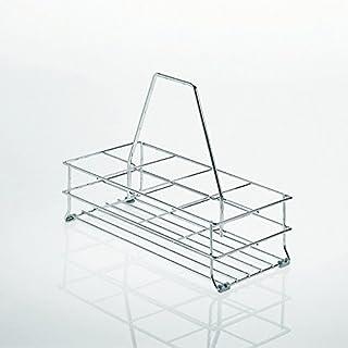 SO-TECH® Bottle carrier basket with 4 floorgliders for 8 bottles