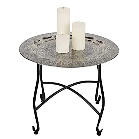 Table Basse Metal - Table pliante table table thé oriental Table