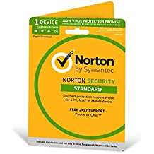 Norton Security Standard - 1 Device - 36 months (PC, Mac, Android, IOS) - Physical Delivery (Activation Key Card)