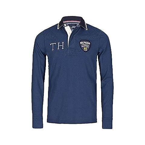 Tommy Hilfiger Poloshirt Longsleeve Langarmshirt Polo Shirt AICHER RUGBY NEU / S