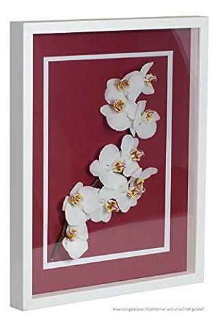 Objektrahmen FrameBox VARIO36 Weiß (matt) 29,7x42cm (DIN A3) zum Einrahmen von Trikots, Blumen, Passepartouts etc.