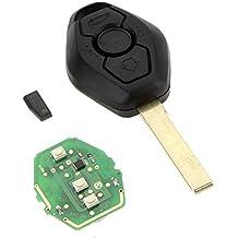 rybyte (TM) nuevo control remoto cabeza Chip llave del coche carcasa de entrada sin llave Fob Caso transmisor de recambio para BMW en forma de diamante