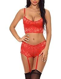 Amazon.es  Bragas Y Sujetador - Lencería y ropa interior   Mujer  Ropa 312b30736671
