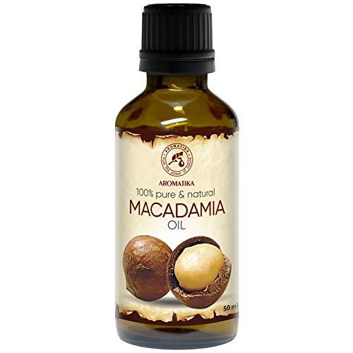 Macadamia Öl 50ml - Kaltgepresstes - Macadamia Integrifolia - Südafrika - 100% Rein und Natürlich - Basisöl - Körperöl - Macadamianussöl füt Gesicht - Körper - Haare - Massage - Körperpflege -