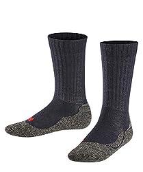 FALKE Kinder Active Warm K SO Socken, Blickdicht, Marine, 31-34 (7-9 Jahre)
