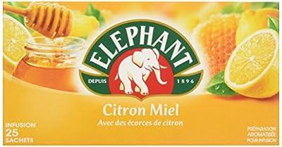 Elephant Infusion Citron Miel 25 Sachets 50g - Lot de 4