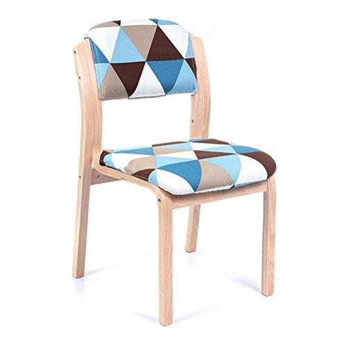 YIXINY Chaise S276 Minimaliste Moderne Linge En Coton Treillis Collure Peut Être Assemblé Facile À Laver Coussin Éponge Chaise En Bois ( Couleur : 001 )
