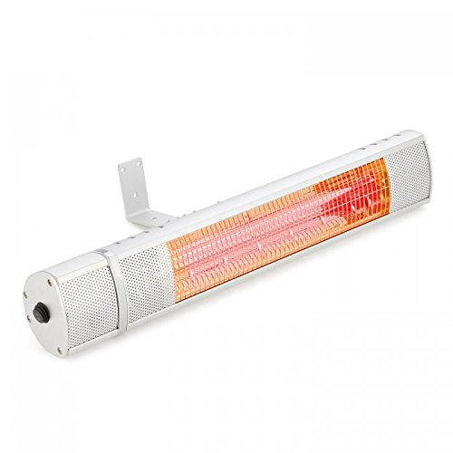 blumfeldt Gold Bar 2000 • Infrarot-Heizstrahler • Wand-Heizstrahler • max. 2000 Watt Leistung • regulierbar in 3 Stufen • einfache Installation • Gold-Infrarotröhre • Fernbedienung • silber