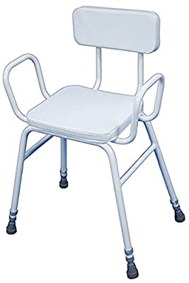 Aidapt Malling Perching Stool with Arms and Padded Back (Eligible for VAT relief in the UK) - low-cost UK light shop.