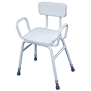 Aidapt Malling Perching Stool with Arms and Padded Back (Eligible for VAT relief in the UK)