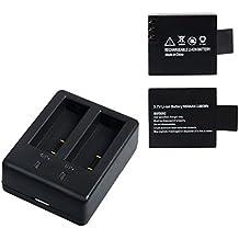 Campark 1050mAh Bateria Recargable USB Adaptador Cargador de Bateria para Cámara Deportiva, Campark, ACT74,SJCam etc.