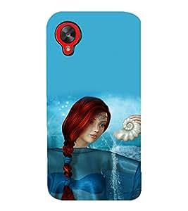 printtech Graphic Girl Underwater Back Case Cover for LG Google Nexus 5::LG Google Nexus 5 (2014 1st Gen)